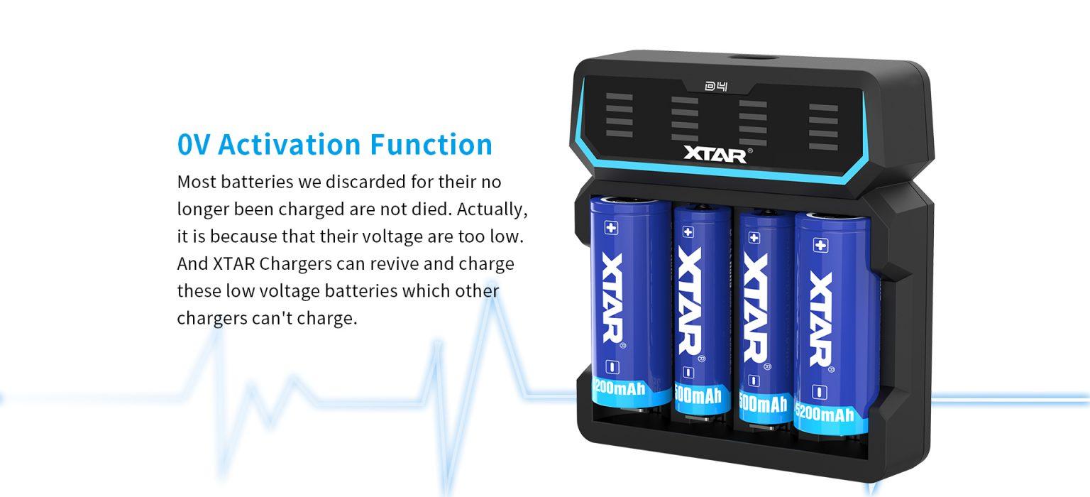 Xtar D4 4-Bay Charger