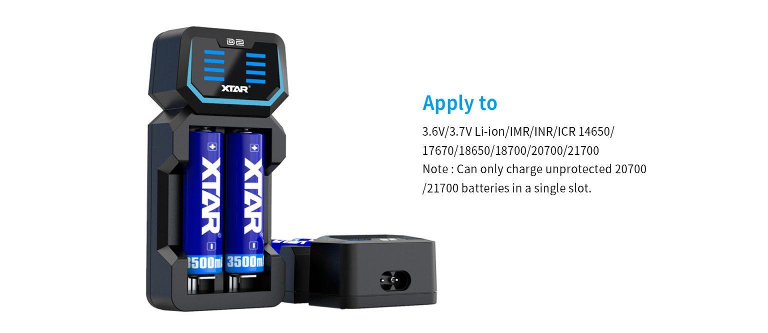 Xtar D2 2-Bay Charger
